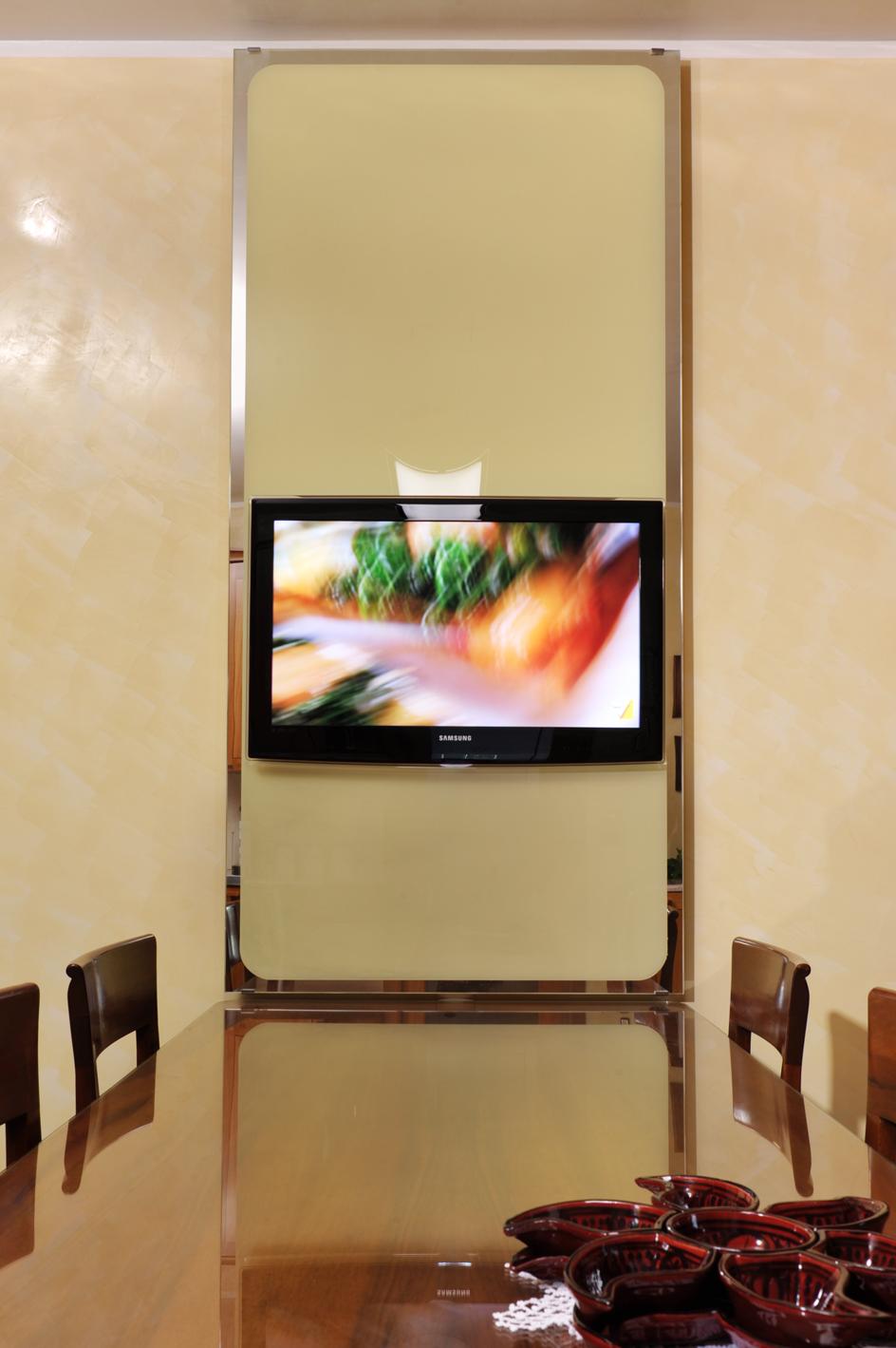 pannello vetro porta tv - IMAX FALEGNAMERIA