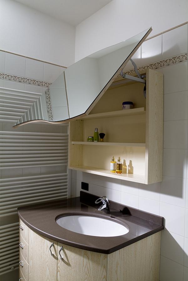 Bagno pensile con specchio imax falegnameria - Pensile specchio bagno ...